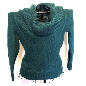3/$20 A.n.a pm teal knitted sweater turtleneck